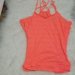 🔥2/$35🔥 Nike dri-fit hot pink/coral tank sz.med